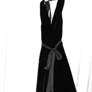 alice & olivia black velvet jumpsuit.